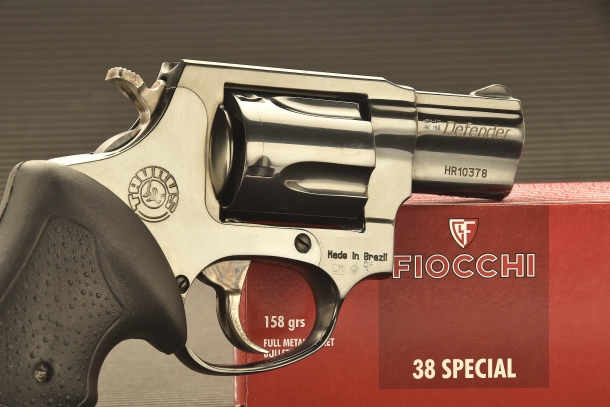 The frame of the baseline Taurus 85 revolver is manufactured out of steel