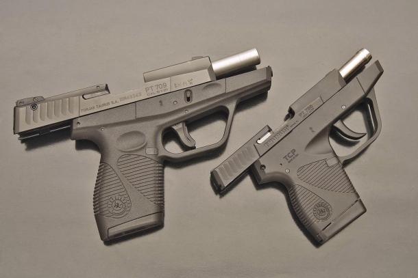 Due pistole da difesa molto occultabili, anche grazie ai caricatori monofilari