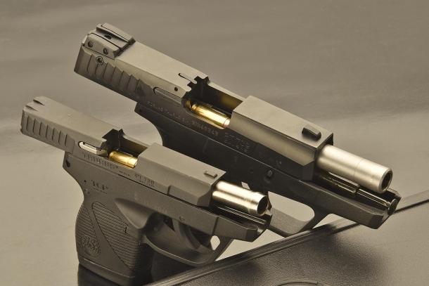 Dimensioni e calibri differenti: .380 Auto per la piccola Taurus PT738, 9x21mm per la Taurus PT709