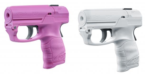 Il Walther PDP è disponibile in nero/rosso, rosa e bianco: queste ultime versioni sono state ideate per la vendita in quei Paesi dove è legale il porto degli spray al pepe ma non quello di oggetti che somigliano ad armi da fuoco