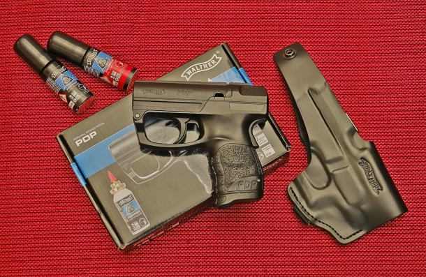 The left side of the Walther PDP personal defense pistol