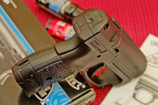 The Walther PDP features a grip safety against accidental discharges