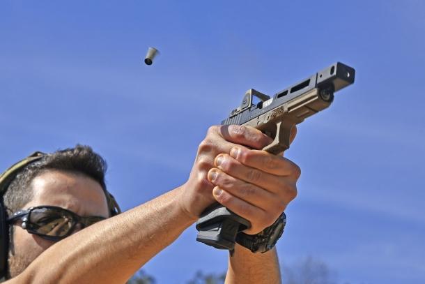 Vista dell'arma al tiro