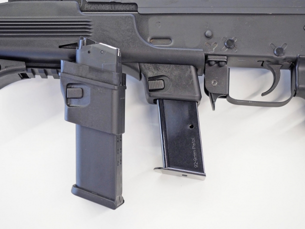 Detail of the 9mm magazine