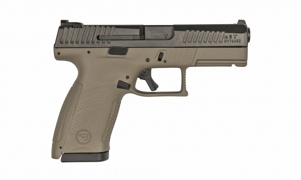 CZ P10C pistol, FDE finish