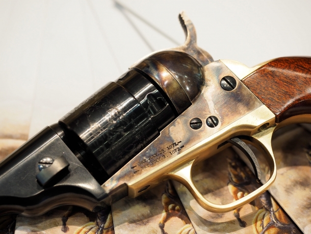 Uberti 1862 Police Conversion, a revolver closeup