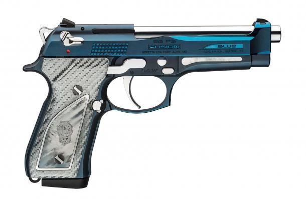 Beretta 92FS Fusion Blue pistol: Italian blue, collector's grade