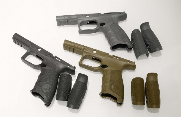 The Beretta APX pistol is a modular design that can be configured at the user's will
