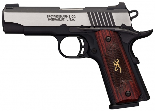 The Browning Black Label 1911-380 Medallion Pro compact pistol