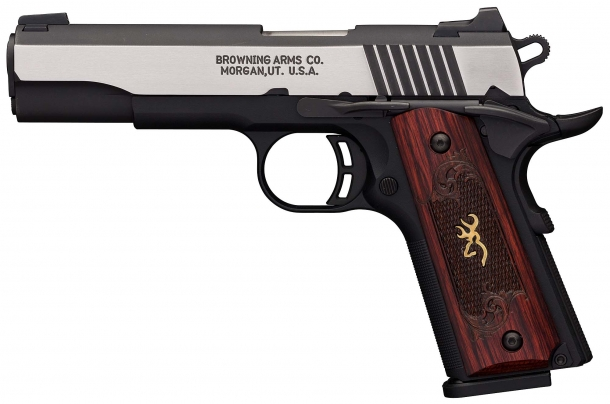 The Browning Black Label 1911-380 Medallion Pro full-size pistol