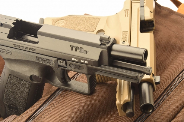 The Canik TP9 SF pistol is among the final runners in the new Danish Army pistol trial