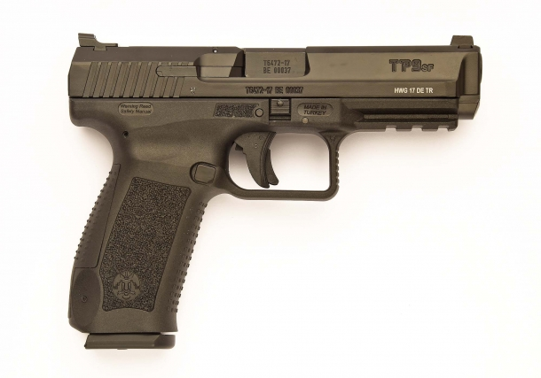 The right side of the Canik TP9 SF pistol