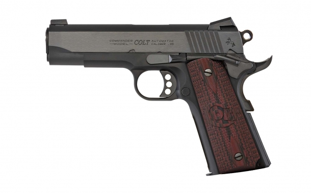 Colt 1911 Lightweight Commander semiauto pistol, available in 9mm or . 45 ACP calibers