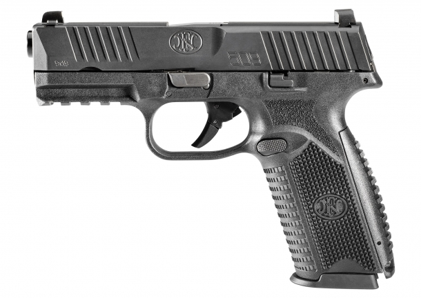 The left side of the FN 509 pistol