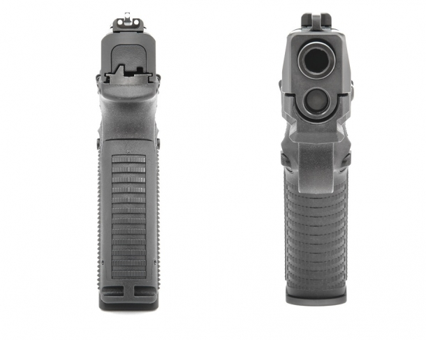 "The FN 509 is 3,4 cm / 1.35"" wide overall"