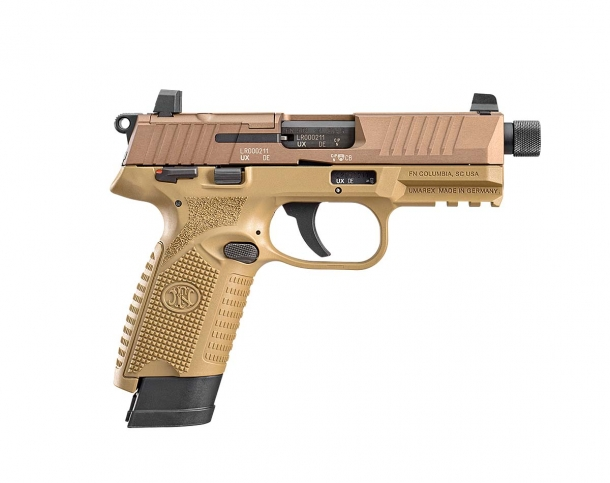FN 502 .22 Long Rifle semi-automatic pistol – right side
