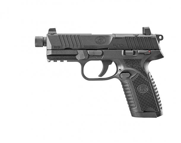 FN 502 .22 Long Rifle semi-automatic pistol – left side
