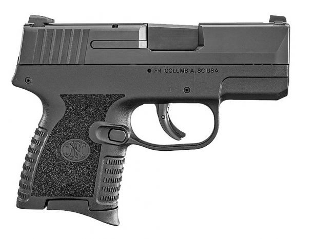 FN 503 9mm concealed carry pistol, right side