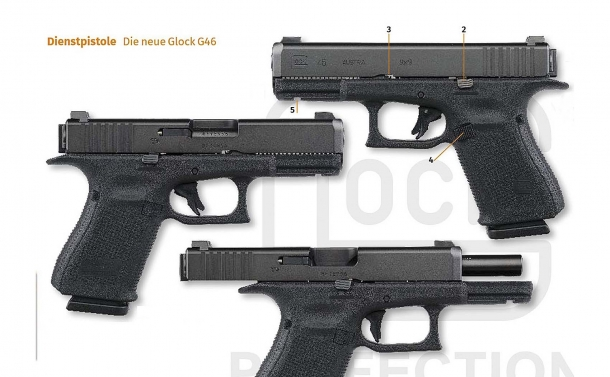 Some views of the G46, Glock's new rotating barrel pistol