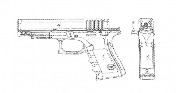The field-stripping of the new Glock 46 as found on the patent