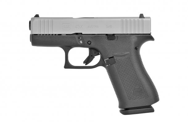 Glock G43X Slimline Silver slide