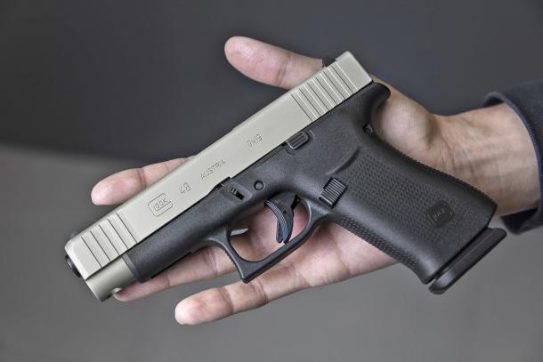 Glock G48 Slimline Silver slide