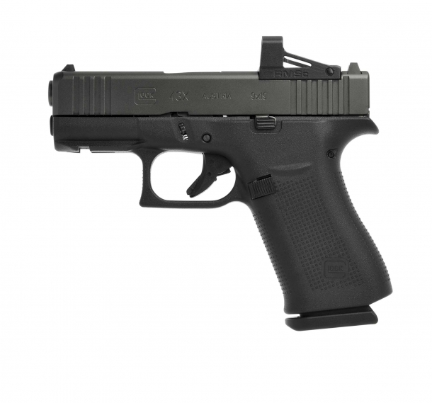 Glock 43X MOS pistol, left side