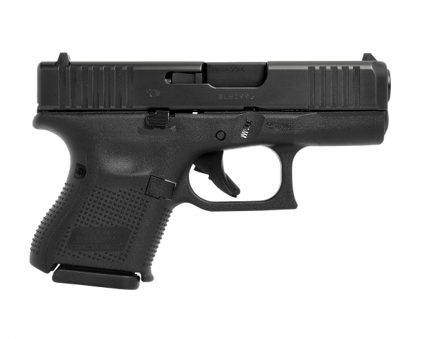 Glock 27 Gen5 .40 Smith & Wesson caliber pistol, right side