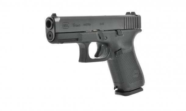Pistola Glock 19 Gen5: Le pistole Glock Gen5 presentano ancora molte caratteristiche dei modelli Gen4, tra cui il design della molla di recupero e dell'asta guidamolla