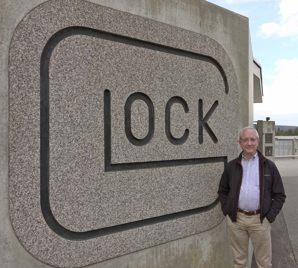 GUNSweek.com Director Bruno Circi and... the Glock logo