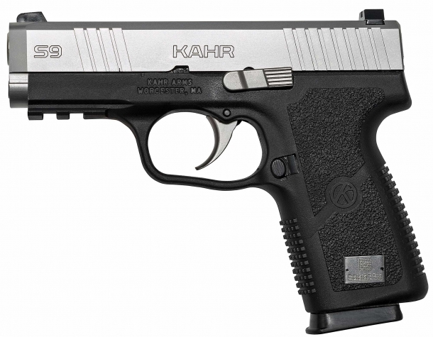 Left side of the new Kahr S9 pistol