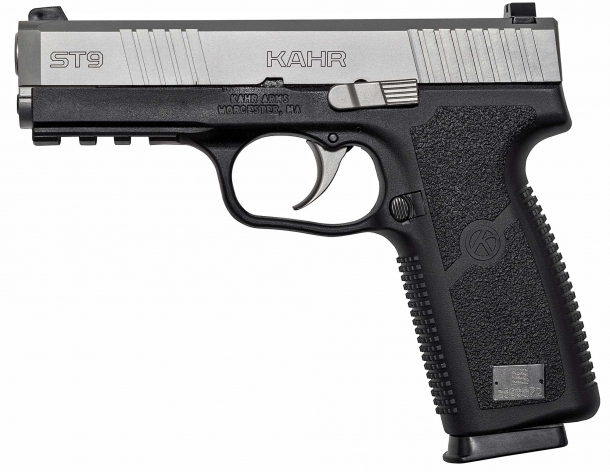 The new Kahr ST9 pistol, seen from the left side