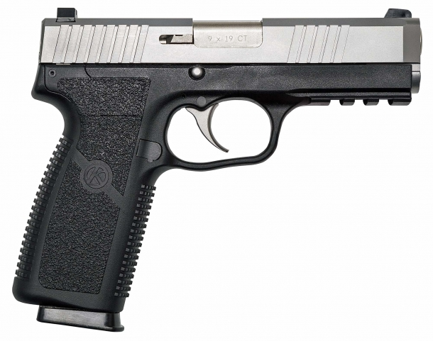 The new Kahr ST9 pistol, seen from the right side
