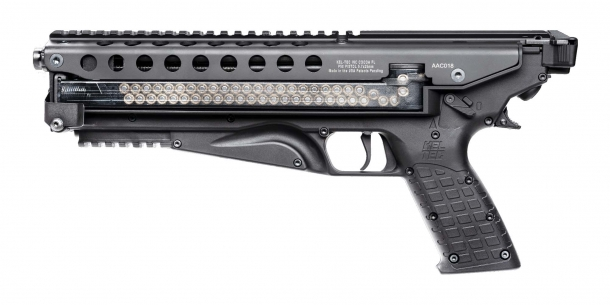 Kel-Tec P50 5.7x28mm pistol, left side