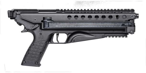 Kel-Tec P50 5.7x28mm pistol, right side