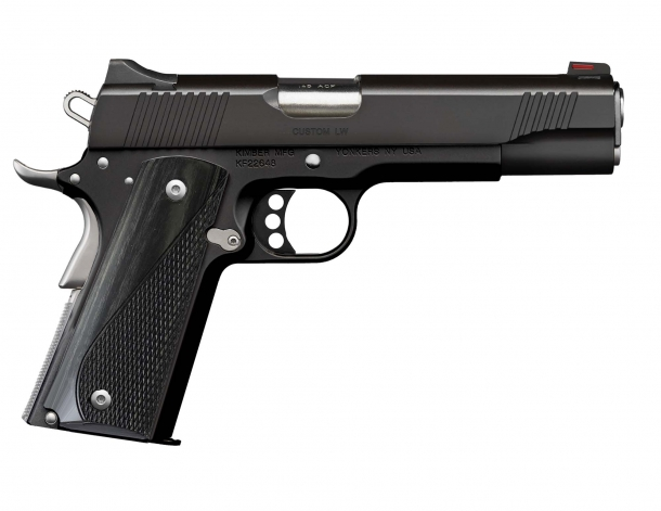 Pistola Kimber Custom LW Nightstar calibro .45 ACP, lato destro