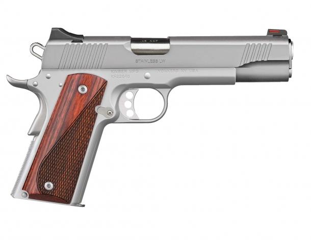 Pistola Kimber Stainless LW calibro .45 ACP, lato destro