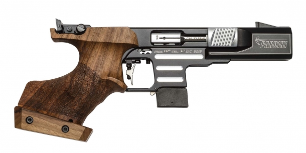 The Pardini HP Center Fire pistol in .32 S&W WC caliber