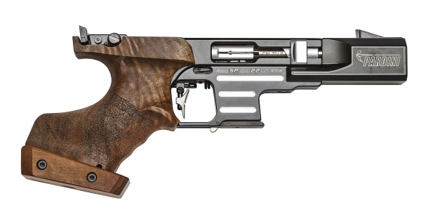The Pardini SP Rapid Fire pistol in .22 Long Rifle caliber