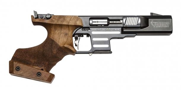 The Pardini SP Rim Fire pistol in .22 Long Rifle caliber