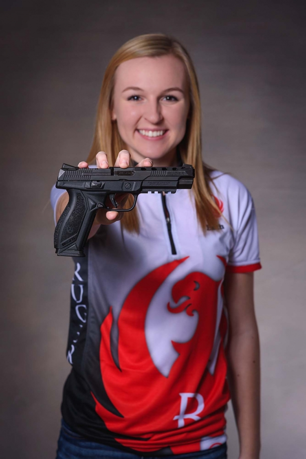 Team Ruger shooter Beth Walker with the Ruger American Pistol Competition