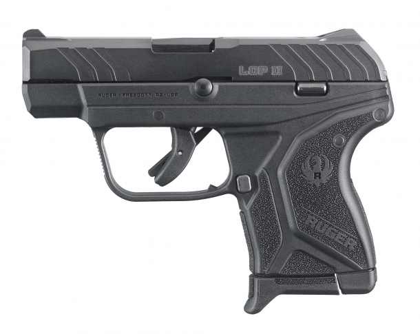 Left side of the new Ruger LCP II pocket pistol