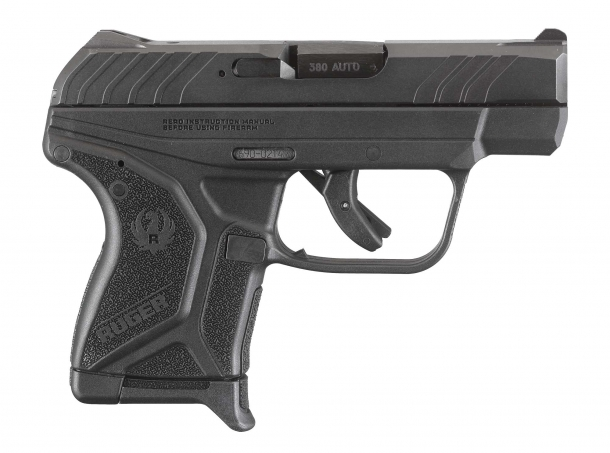 Ruger's new LCP II .380 caliber pistol, seen from the right side