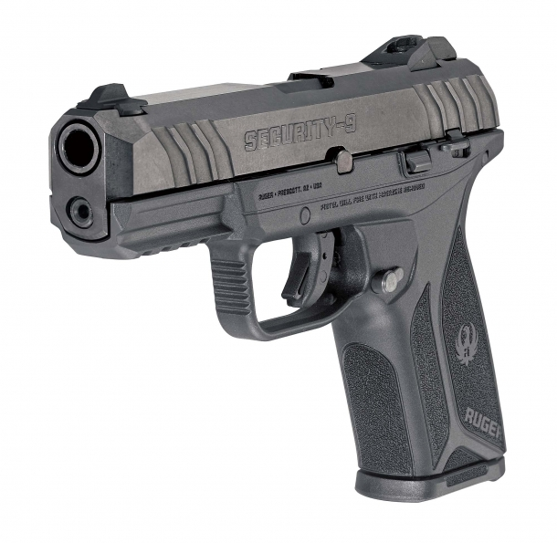 The Ruger Security-9 is built around an alloy steel slide, a glass-reinforced Nylon frame and a hard-anodized aluminum chassis