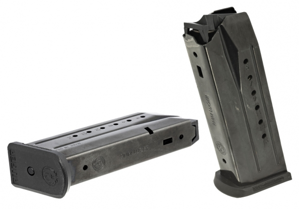 The double-stack magazines of the pistol