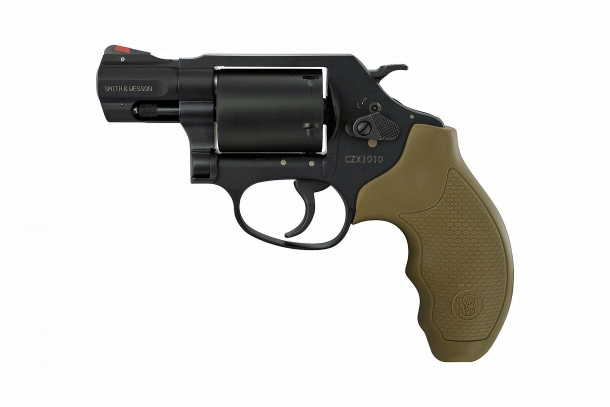 Smith & Wesson's new Model 360 revolver, seen from the left side.