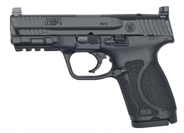 "Pistola Smith & Wesson M&P 9 M2.0 Compact 4"" Optics Ready, lato sinistro"