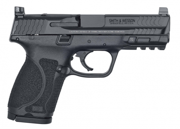 "Pistola Smith & Wesson M&P 9 M2.0 Compact 4"" Optics Ready, lato destro"