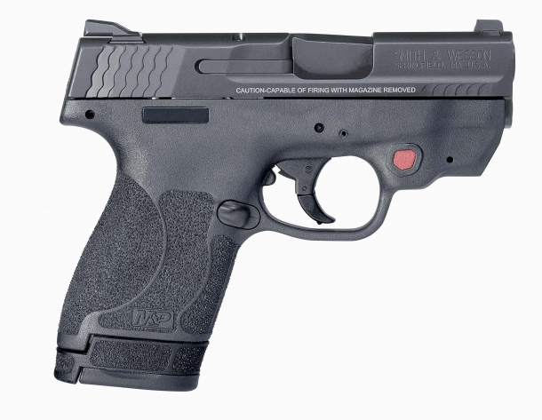 Each Smith & Wesson M&P Shield M2.0 ships with a standard magazine and an extended grip magazine
