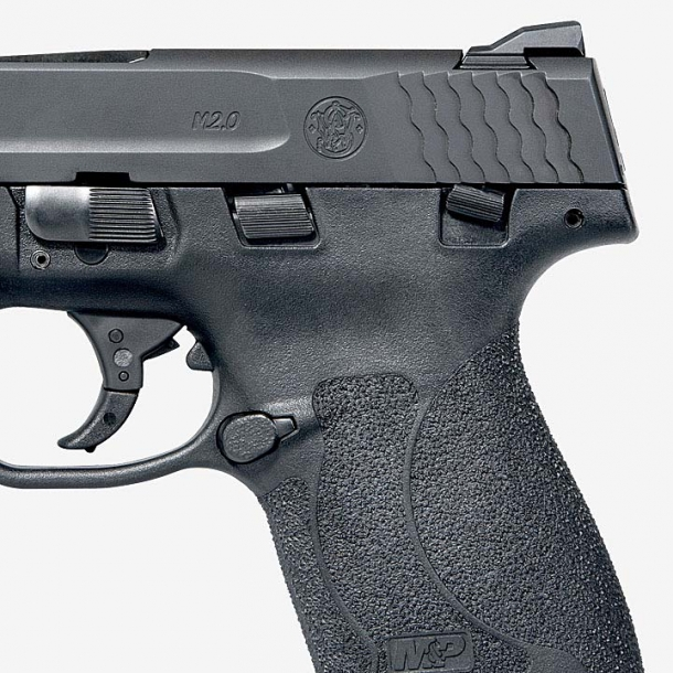 The M&P Shield M2.0 is also available with a frame-mounted manual safety
